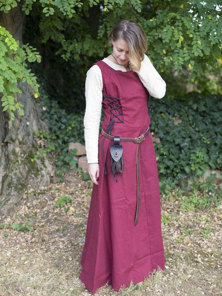 Ärmelloses Trägerkleid aus Canvas rot M 4