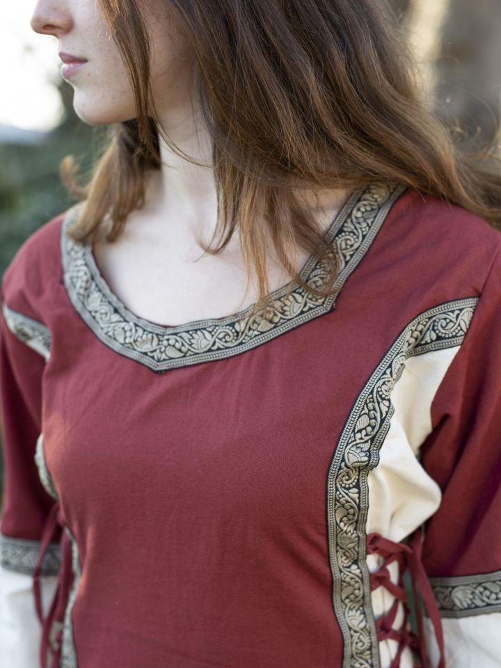 Kleid Klarissa rot-natur 4