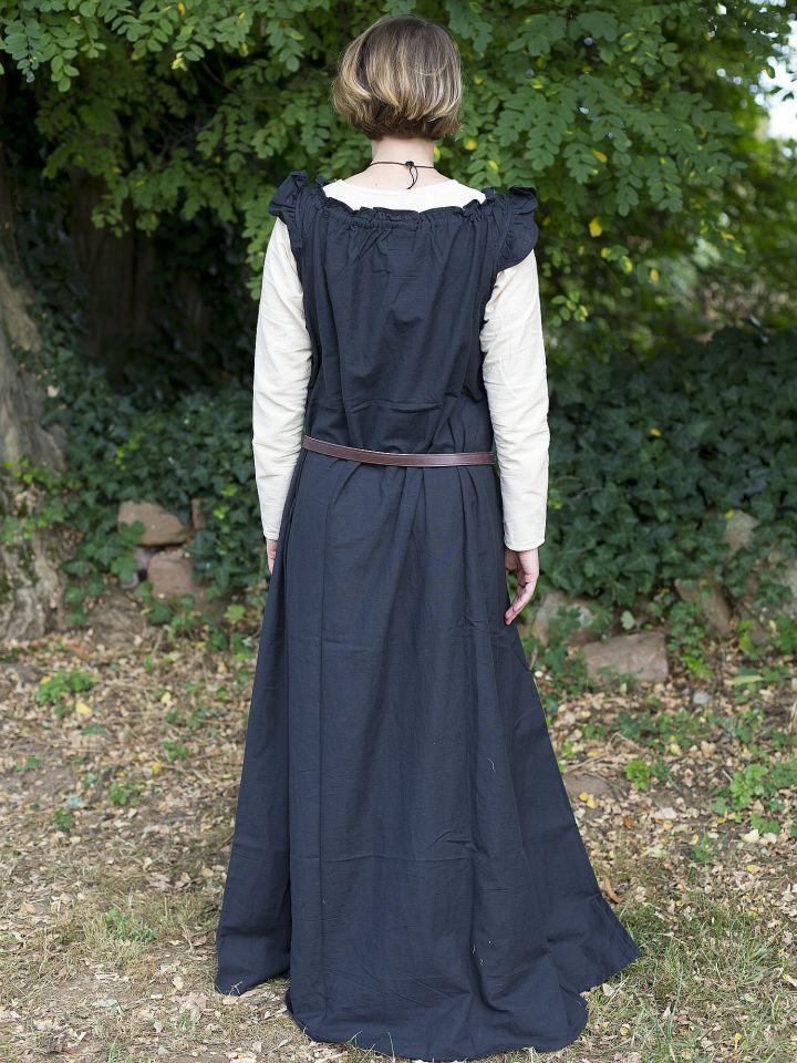 Ärmelloses Kleid mit Schulterrüsche schwarz 4