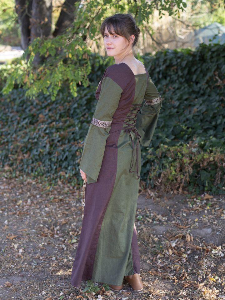 Mittelalterkleid mit abnehmbaren Ärmeln oliv-braun XXL 4