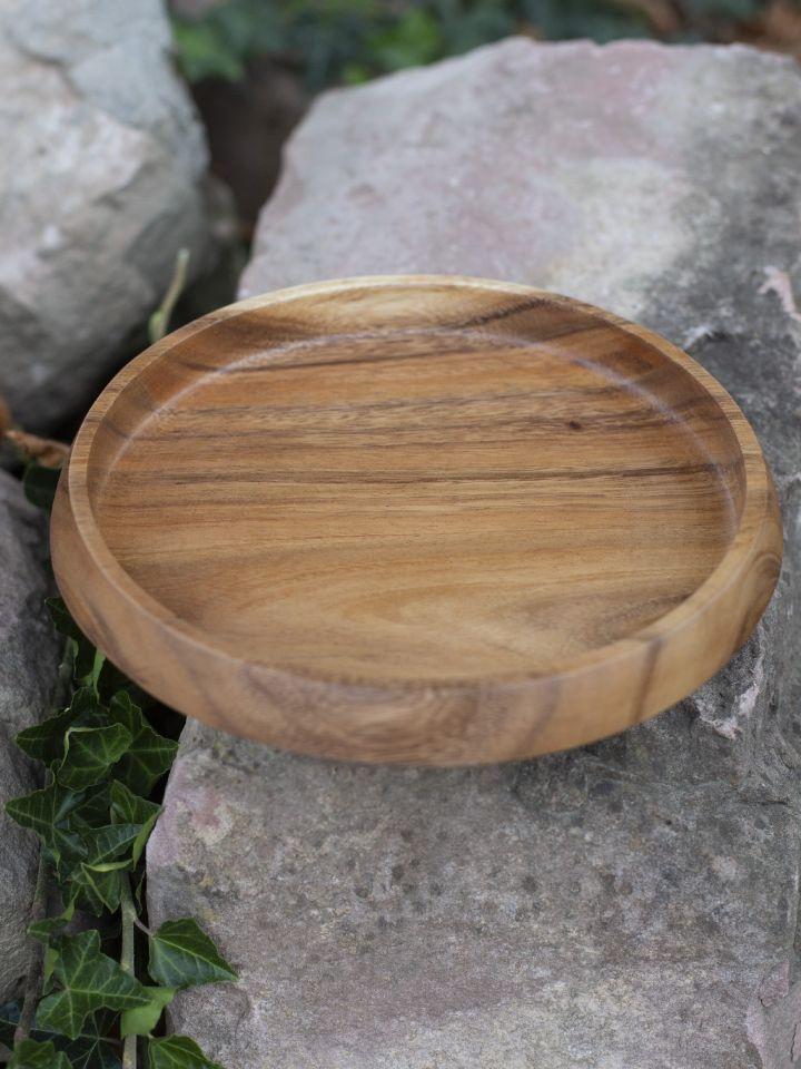 Flache Schale aus Akazienholz 4