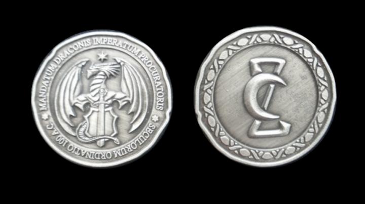 LARP-Münzen Drachen 4