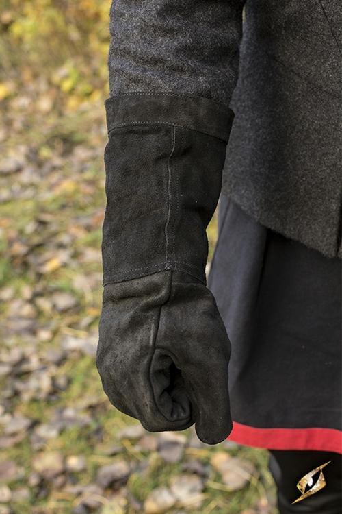 Wildlederhandschuhe schwarz M 4
