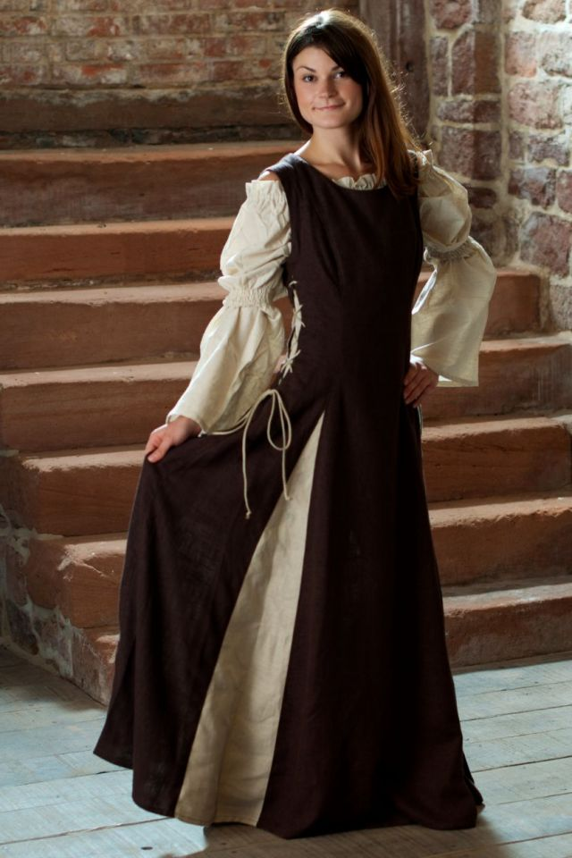 Ärmelloses Kleid braun M 4