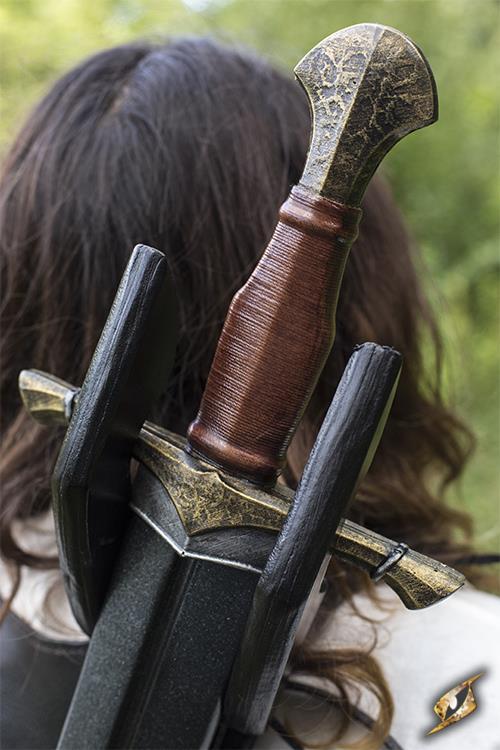 Rücken-Schwerthalter für LARP-Schwerter schwarz 4
