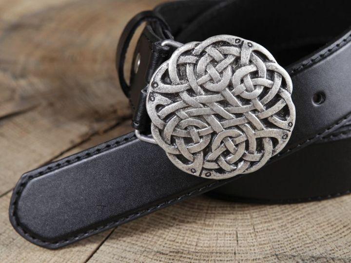 Ledergürtel Keltischer Knoten braun 4