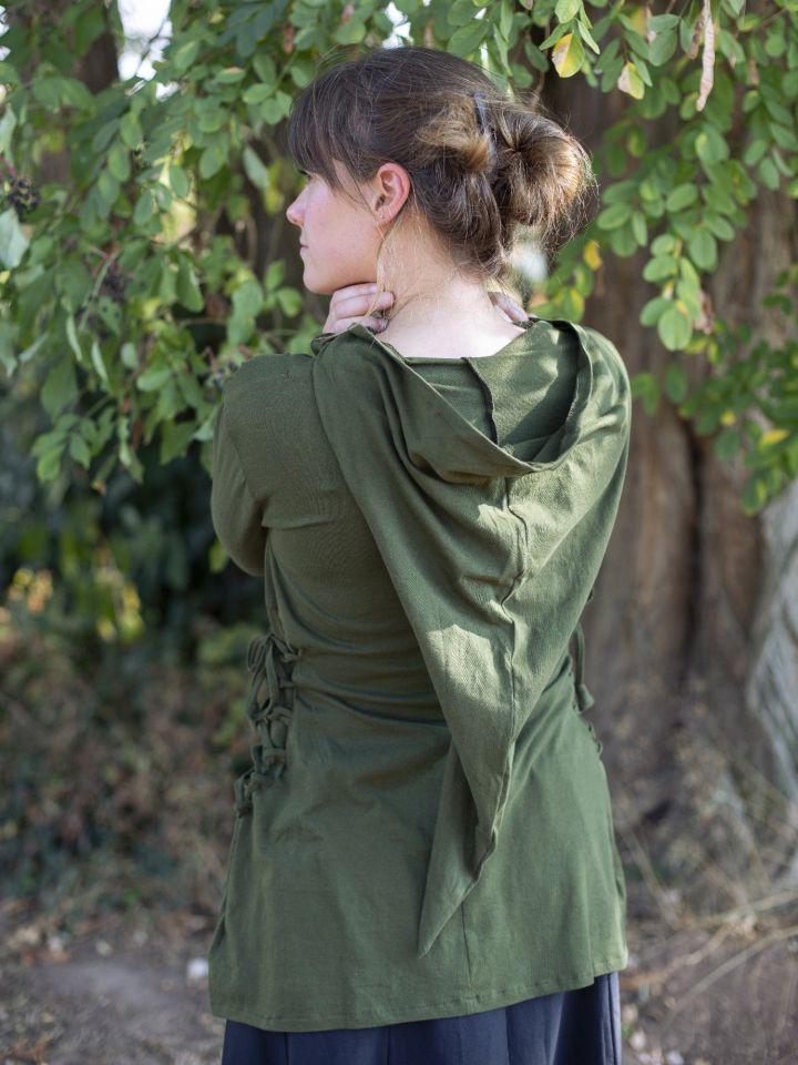 Bluse mit Zipfelkapuze grün 4