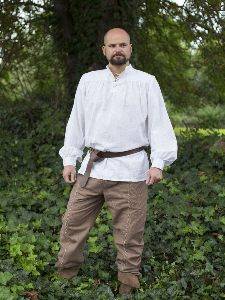 Mittelalterhemd Leinen M | weiß 4