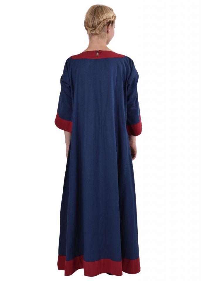 Mittelalterkleid Radegundis blau-rot 4