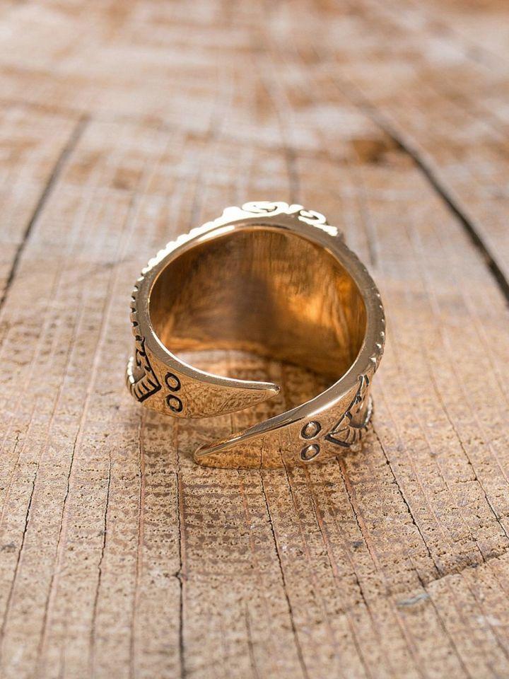 """Ring """"Thorshammer"""" groß   Bronze 4"""