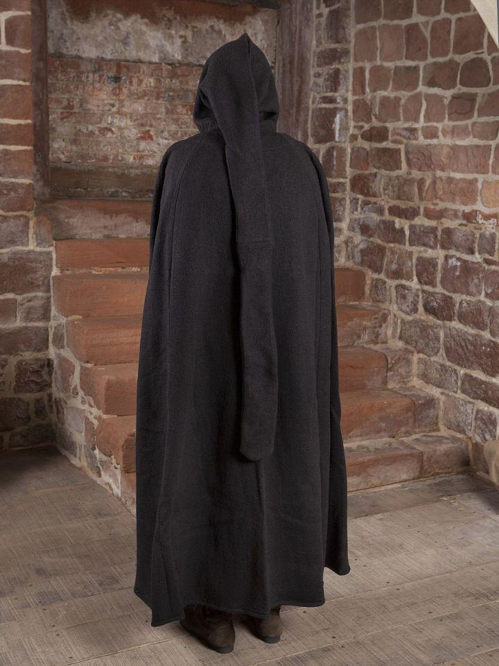 Umhang Walkloden in schwarz Länge ab Schulter 140 cm 4