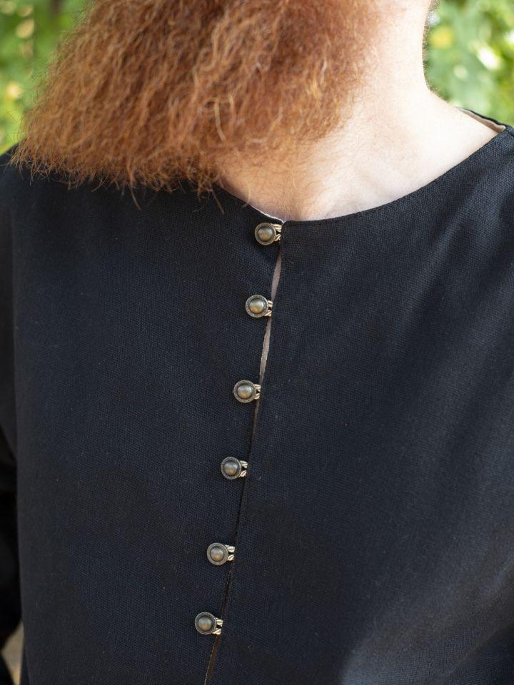 Tunika mit Knopfleiste schwarz XL 4