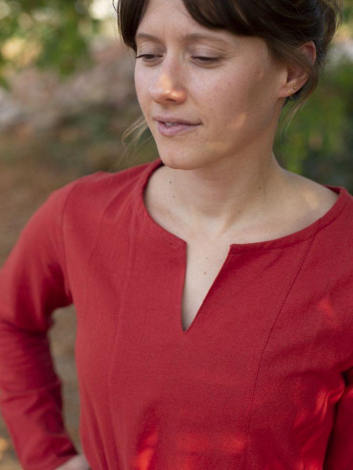 Schlichtes Unterkleid rot 4