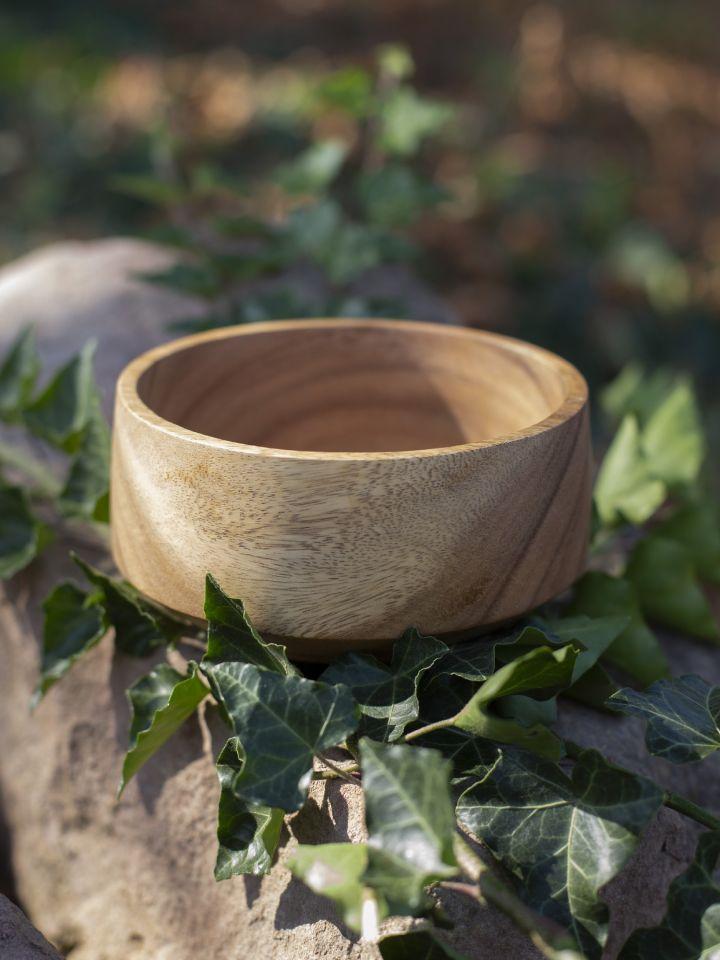 konische Schale aus Akazienholz 4