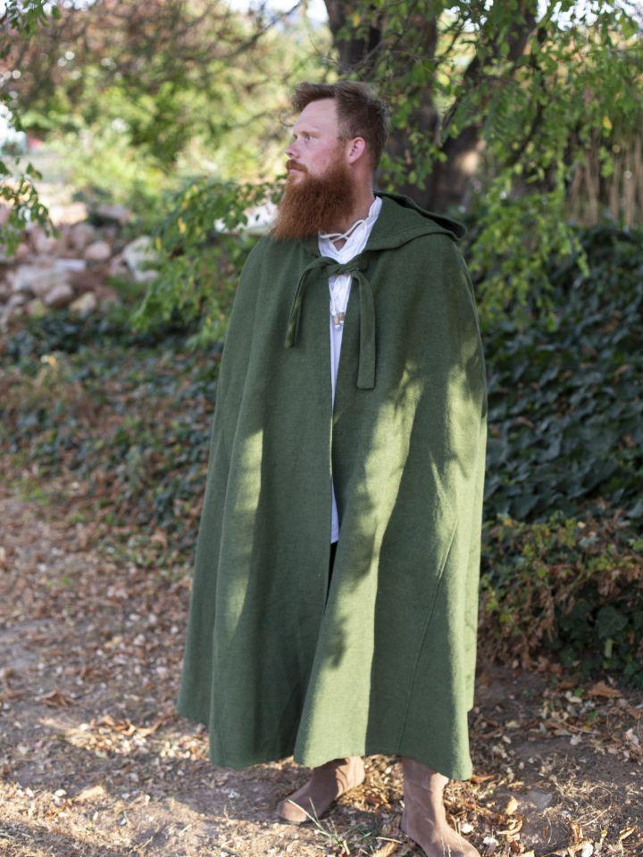 Kapuzenumhang aus Baumwolle grün 4