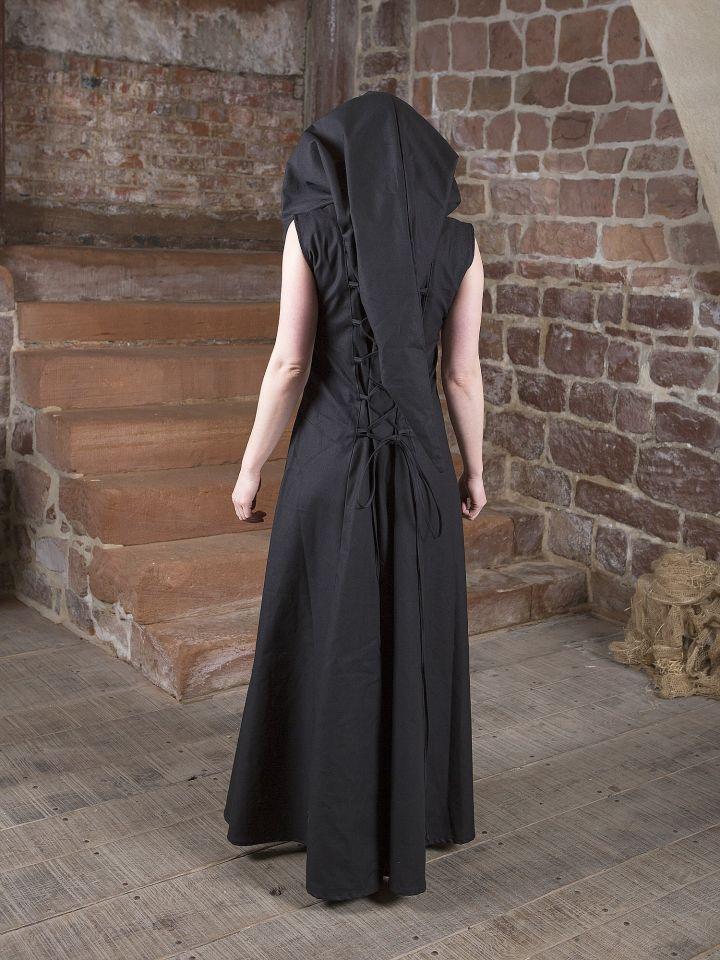 Mittelalterkleid Lucia schwarz-weiß 4