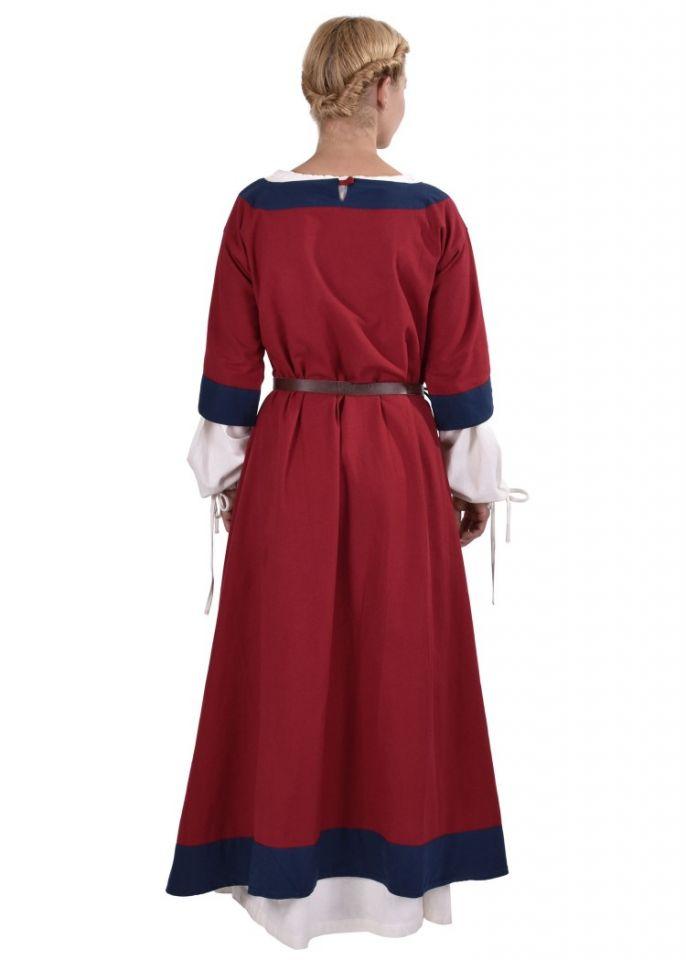 Mittelalterkleid Radegundis rot-blau 4
