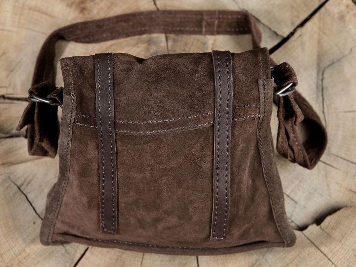Braune Wildledertasche zum Umhängen 4