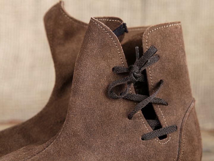 Schuh nach historischem Vorbild (aus Velourleder) 4