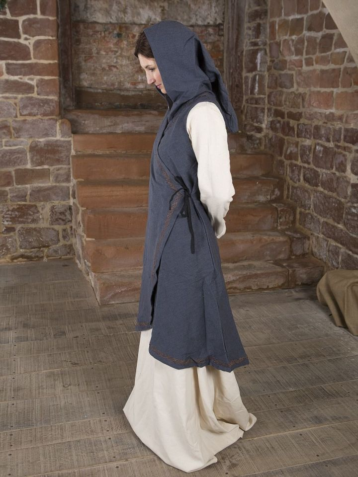 Wickelkleid Dala aus Baumwolle grau L/XL 4