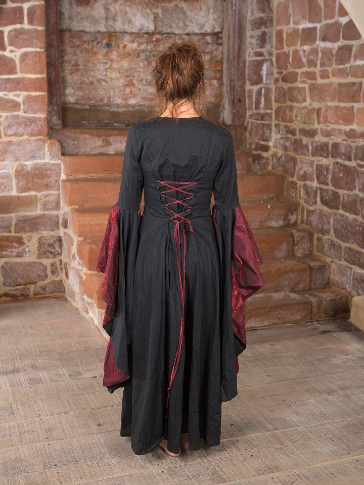 Mittelalterkleid Elisabeth in schwarz-rot 4