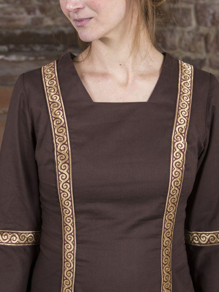 Mittelalterkleid Rahel braun 4
