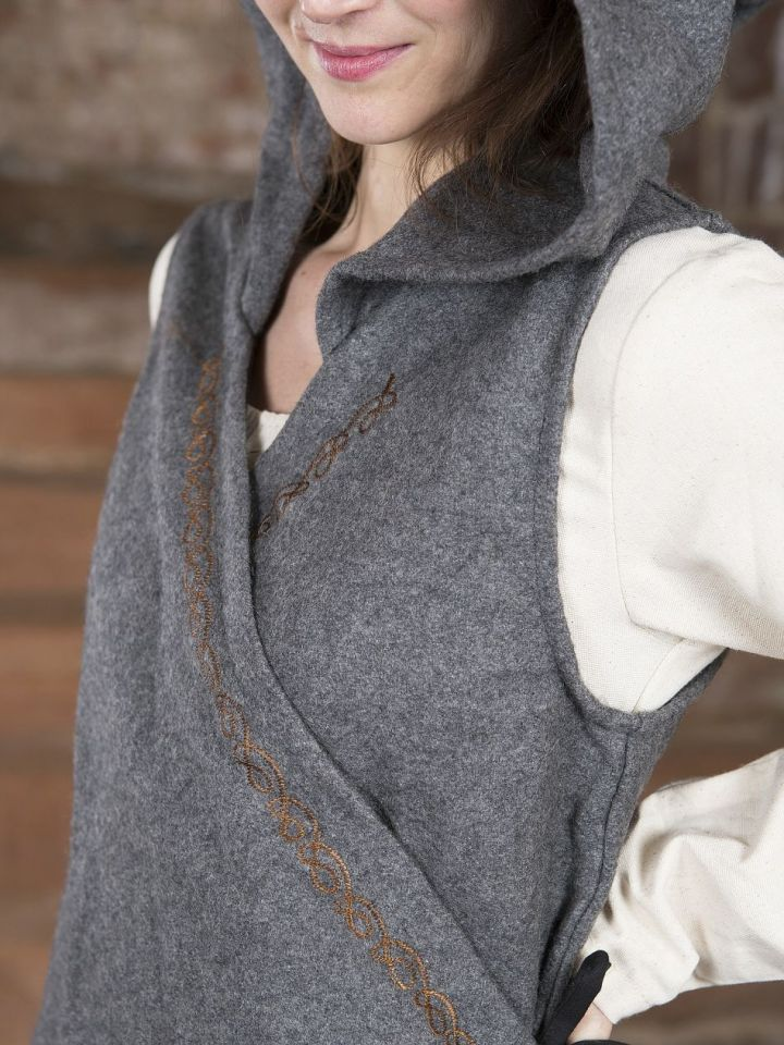 Wickelkleid Dala aus Wollfilz grau L/XL 4