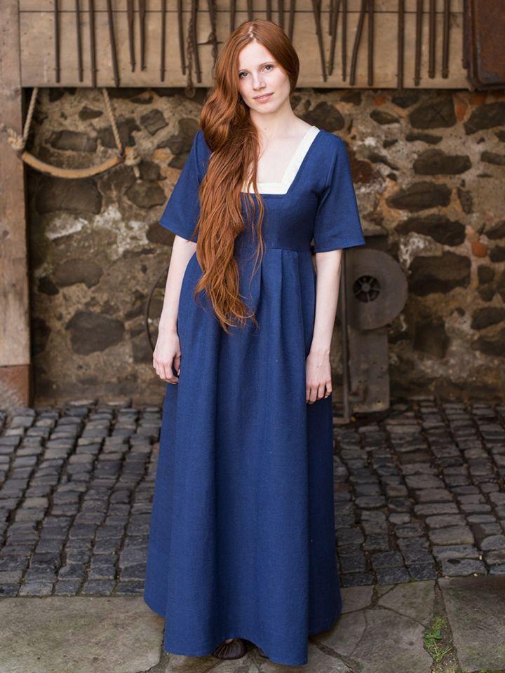Kleid Frideswinde blau S 4