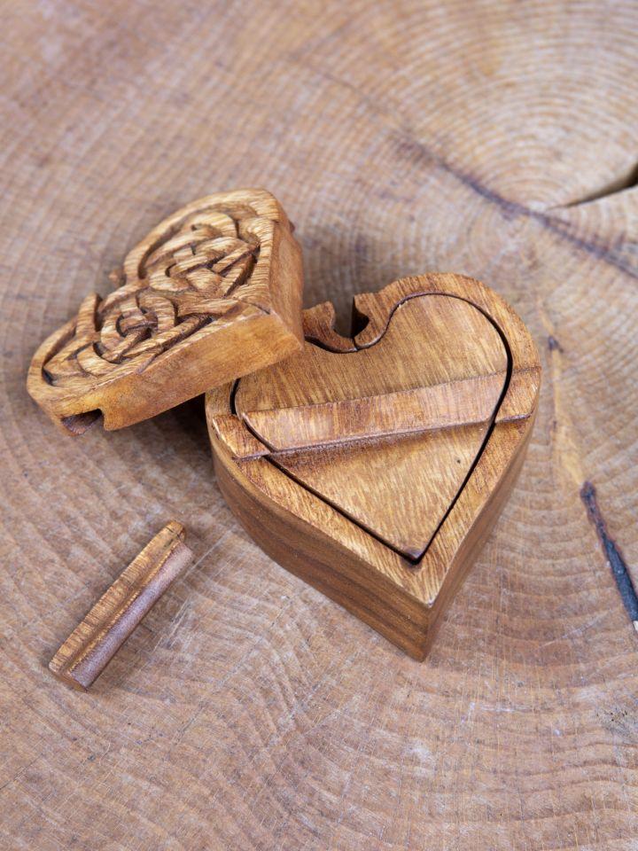 Holzdose Keltisches Herz 4