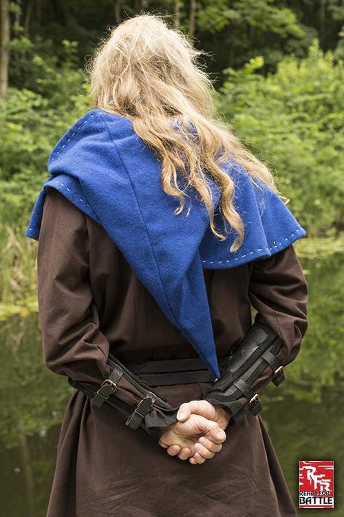 Wikinger-Armschienen aus Leder schwarz 4