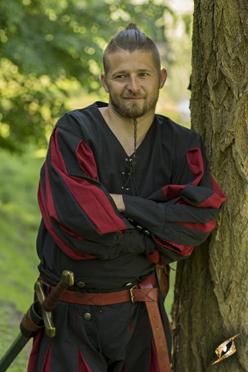 Hemd Landsknecht schwarz-rot 4