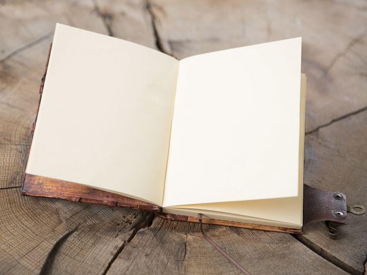 Lederbuch Eule mittel 4
