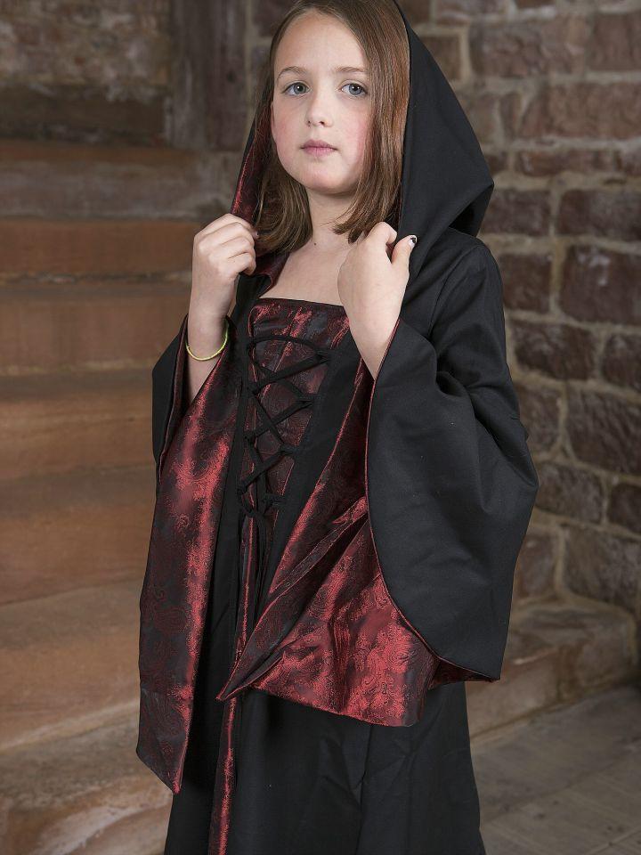 Kinderkleid Gretlin schwarz-rot 4