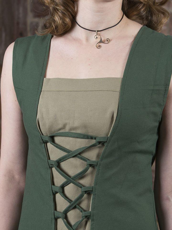 Mittelalterkleid Yunie oliv-grün 4