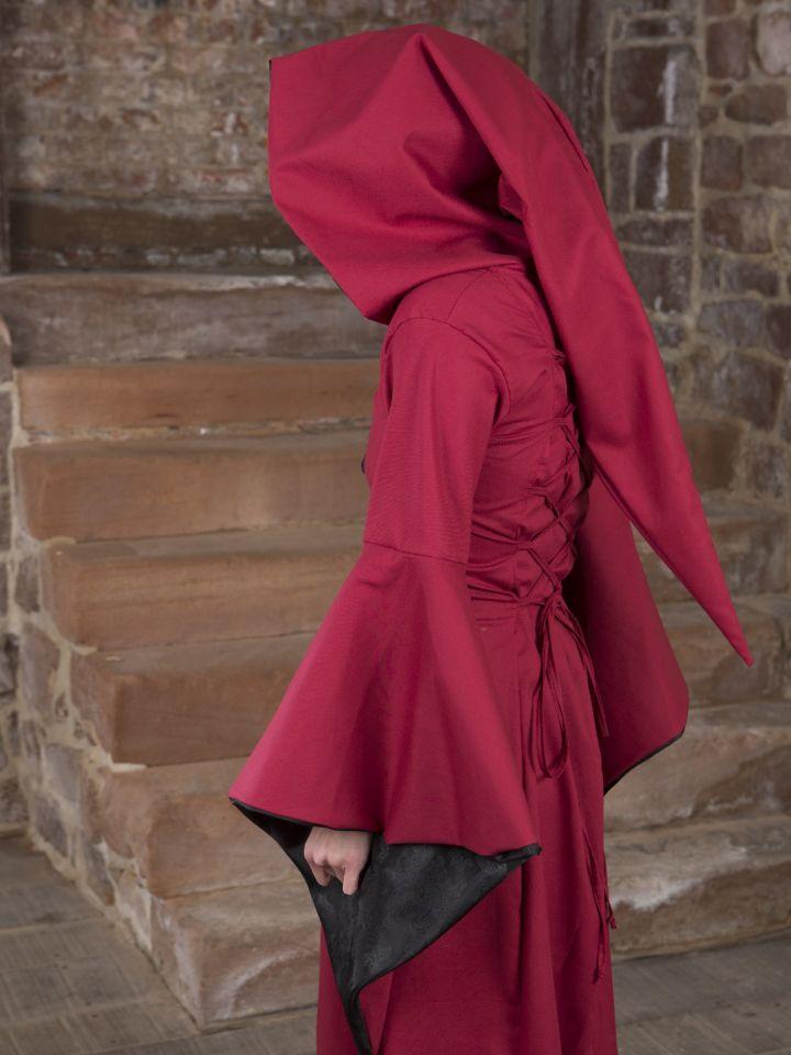 Mittelalterkleid Evanna schwarz-rot 4