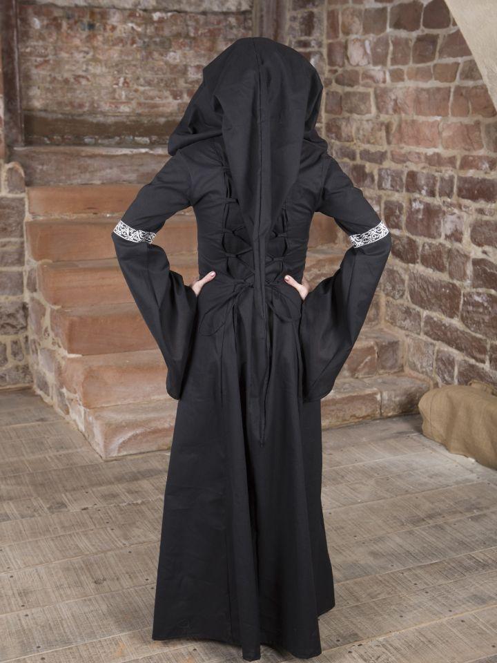 Mittelalterkleid Helena schwarz-grün 4