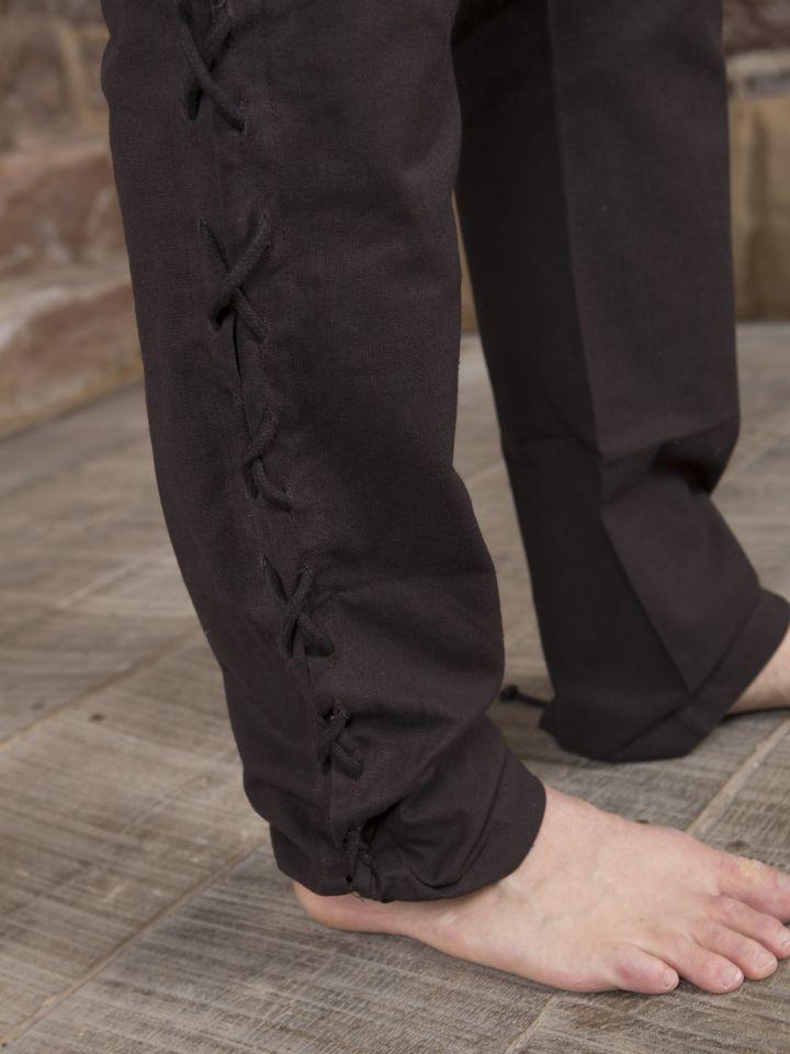 Hose mit Beinschnürung braun 4