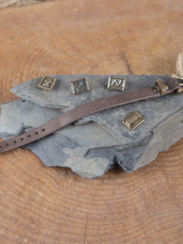Lederarmband mit Bronzeschnalle 4