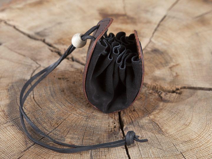 Lederbeutel Keltischer Knoten braun 4