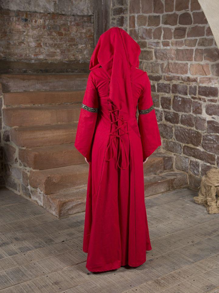 Mittelalterkleid Brida rot-schwarz 4