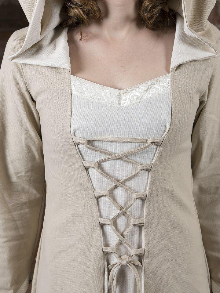 Mittelalterkleid Floriel creme-weiß 4