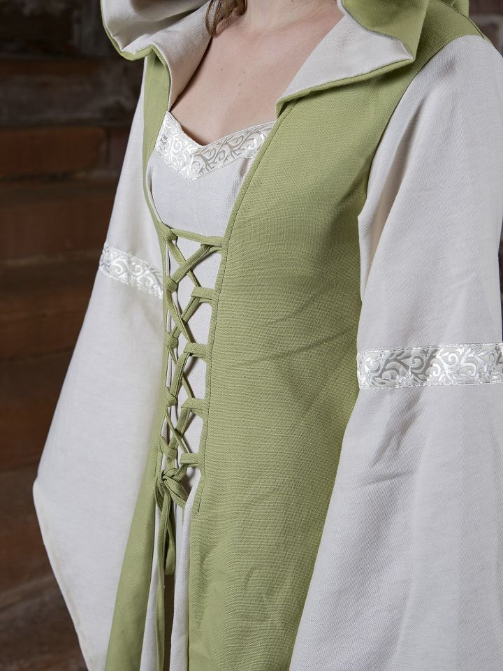 Mittelalterkleid Irmel grün-weiß 4