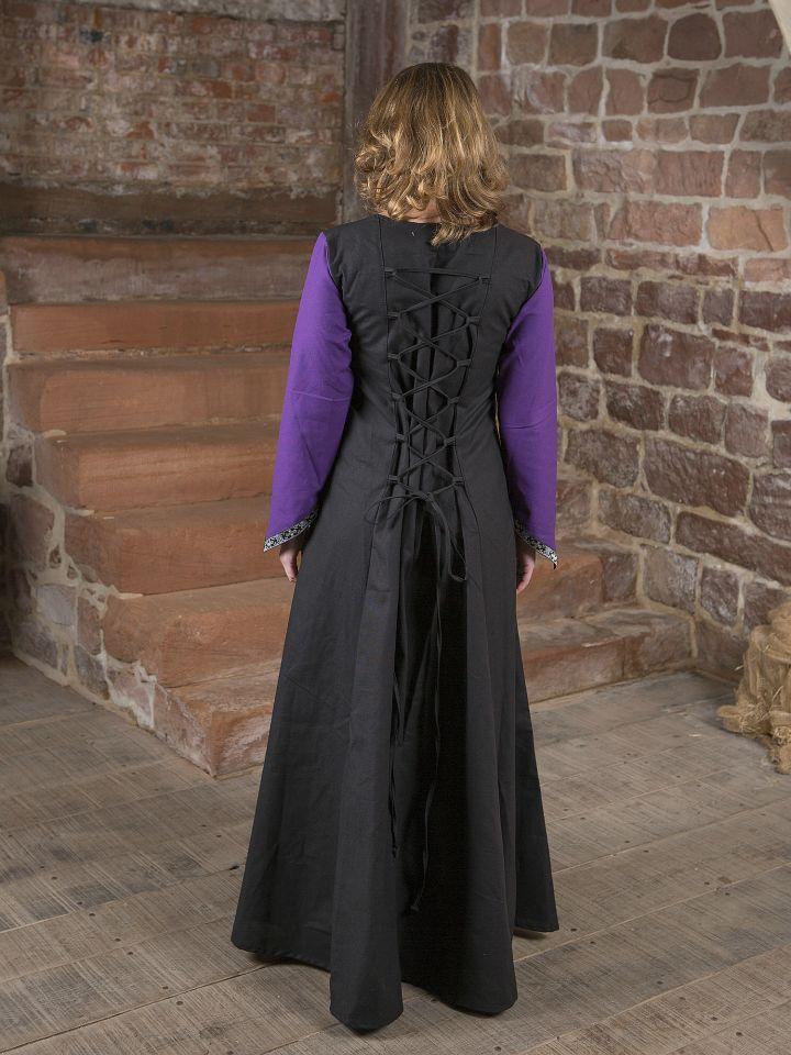 Mittelalterkleid Jacqueline schwarz - lila 4