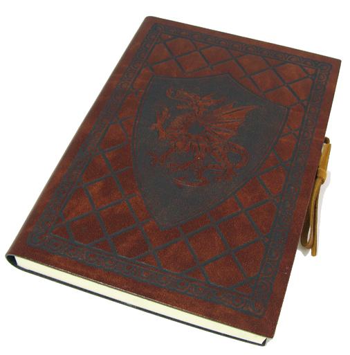 """Schreibbuch """"ScuDrago"""" im Ledereinband Mittel 12 x 17 cm 4"""
