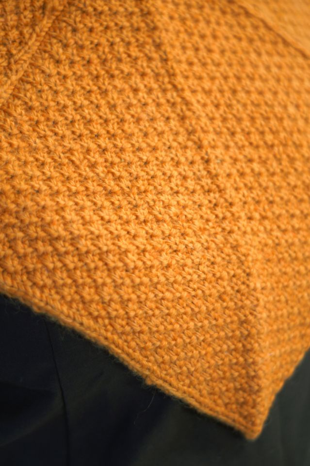 Woll-Strick Gugel Asbjorn orange 4
