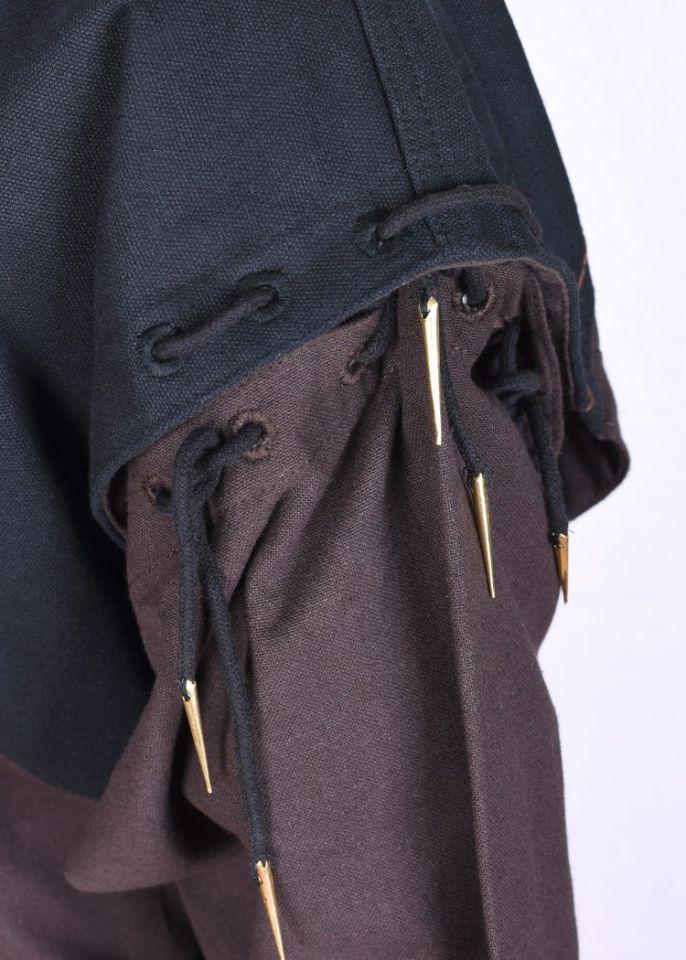 Tunika mit abnehmbaren Ärmeln braun-schwarz XL 5