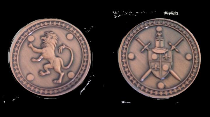 LARP-Münzen König 5
