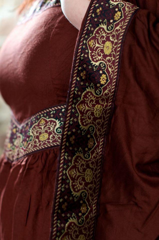 Mittelalterkleid Burgund in rot S 5
