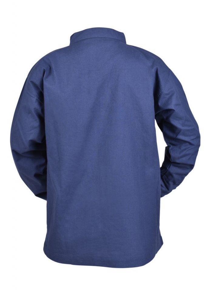 Kinder Mittelalterhemd blau 110 5