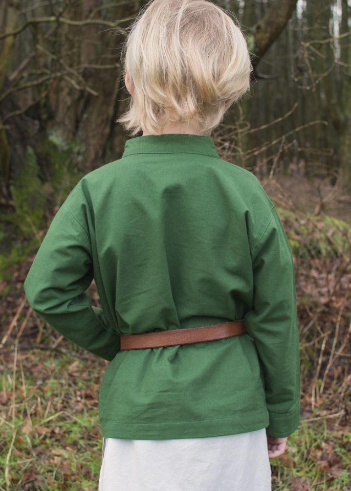 Kinder Mittelalterhemd grün 5